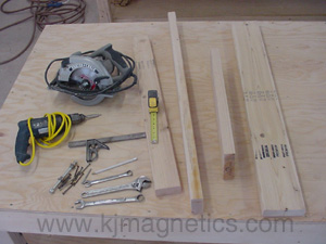Tools needed to build a magnet separator