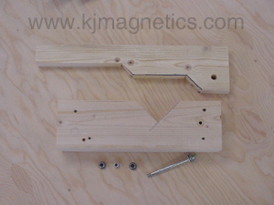Drill the holes for the pivot bolt