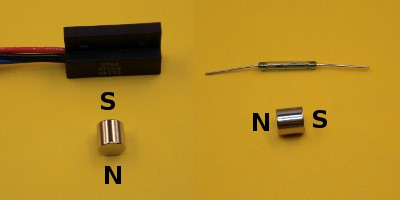 reed switches and hall effect sensors proper magnet orientation a hall effect sensor left vs a reed switch right