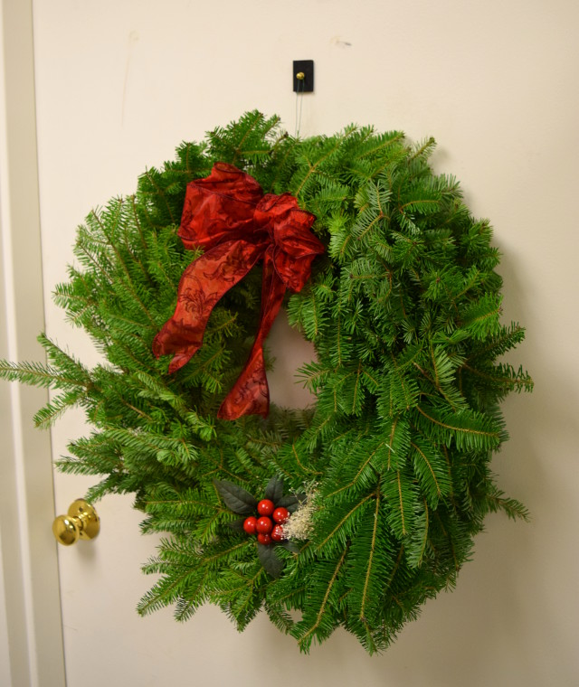 In A Previous Holiday Season, We Recommended Our WPH LG Magnetic Hooks To  Hang A Wreath To A Steel Door ...