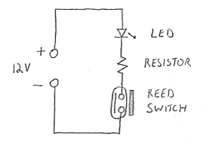 wiring_reed2b reed switches and hall effect sensors reed switch wiring diagram at gsmportal.co