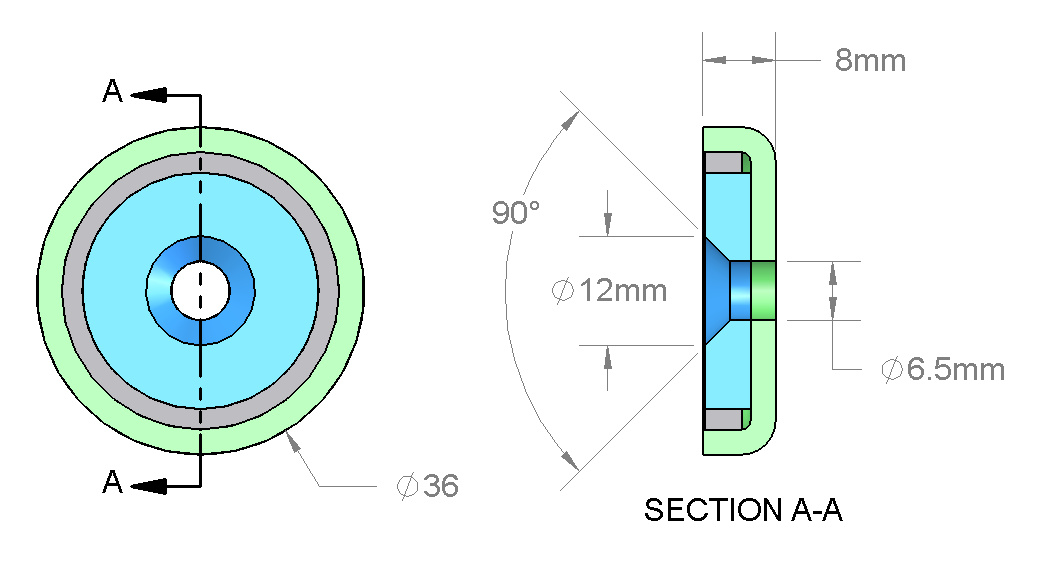 K&J Plate Thickness Calculator calculates the Pull Force of a single magnet stuck to a steel plate of a user-supplied thickness. The original K&J Magnet Calculator provides Pull Force Case 1, the pull force of a single magnet to a steel plate.